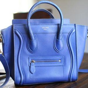 Authentic Blue Nano Celine Luggage